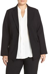 Plus Size Women's Ellen Tracy Fitted Boyfriend Blazer Black