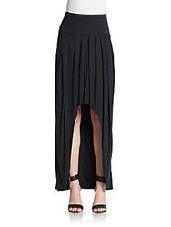 Akris Asymmetrical Maxi Skirt Black