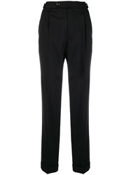 Helmut Lang Classic Pleated Chinos Black