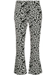 Zadig And Voltaire Heart Print Cropped Trousers 60