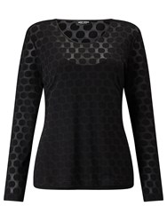 Gerry Weber Self Spot Jersey Top Black