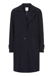 Betty And Co. Single Breasted Pea Coat Sapphire
