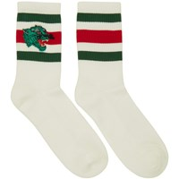Gucci White Panther Socks