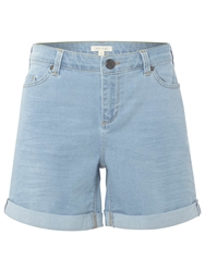 White Stuff Betty Boyfriend Shorts Light Denim
