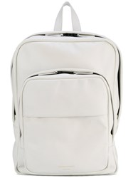 Common Projects Contrast Backpack Unisex Leather One Size White