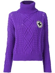 Mr And Mrs Italy Logo Roll Neck Sweater Purple