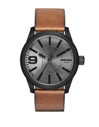 Diesel Leather Strap Watch No Color