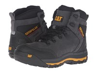 Caterpillar Munising 6 Waterproof Dark Shadow Men's Work Lace Up Boots Black