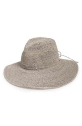 Women's Helen Kaminski Raffia Crochet Packable Sun Hat