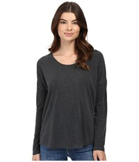 Rvca Sutherland Long Sleeve Top Black Women's Long Sleeve Pullover