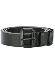 Ann Demeulemeester Rectangular Buckle Belt Black