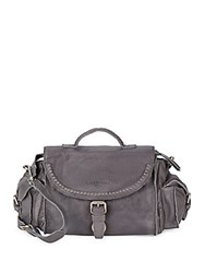 Liebeskind Buckled Leather Crossbody Bag Dark Grey