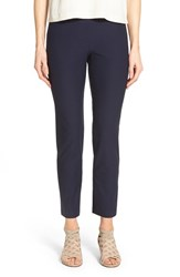 Women's Eileen Fisher Stretch Crepe Slim Ankle Pants Midnight