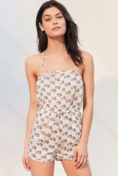 Out From Under Beach Babe Pull On Romper White