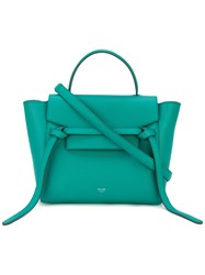 Celine Top Flap Tote Women Calf Leather One Size Green