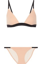Solid And Striped The Morgan Triangle Bikini Beige