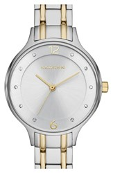 Skagen Women's 'Anita' Crystal Index Bracelet Watch 30Mm Silver Gold