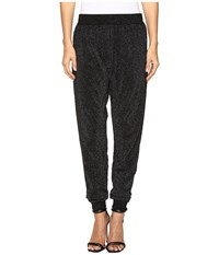 Wolford Lurex Knit Trousers Black Silver Women's Casual Pants