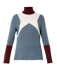 Undercover Colour Block Alpaca Blend Sweater