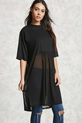 Forever 21 Mesh Knit Tunic