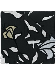 Christian Wijnants Abstract Print Scarf Black