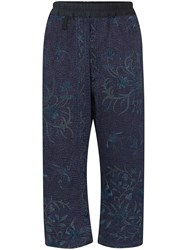 By Walid Jeremy Floral Front Cropped Trousers 60