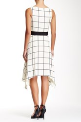 Eva Franco Faye Plaid Dress White