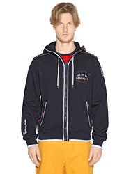 Paul And Shark Hooded Cotton Fleece Zipped Sweatshirt Navy
