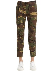 G Star By Pharrell Williams Camouflage Printed Cotton Denim Jeans