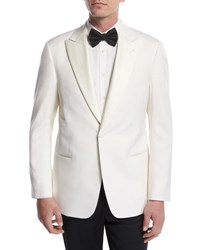 Giorgio Armani Satin Lapel Dinner Jacket White