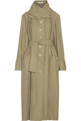 J.W.Anderson Belted Twill Trench Coat Mushroom