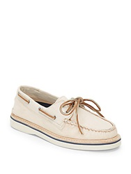Sperry Grayson Canvas Boat Shoes Ivory