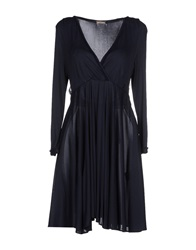 Galliano Short Dresses Dark Blue