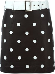 Jeremy Scott Polka Dot Mini Skirt Black