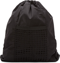 Denis Gagnon Black Poly Mesh Pocket Backpack