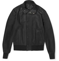 Berluti Nubuck Leather Jacket Gray