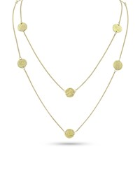 Dominique Cohen Griffin Coin 18K Gold Long Necklace 42 L