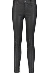 J Brand Stretch Leather Leggings Black