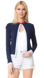 Versace Cardigan Navy Light Blue Red