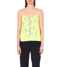 Whistles Palm Print Layered Camisole Lime
