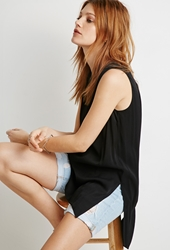 Forever 21 Side Slit Textured Tunic Black