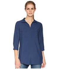 Royal Robbins Expedition Chill Stretch Tunic Deep Blue Long Sleeve Pullover