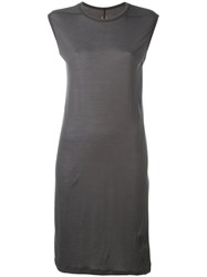 Rick Owens Drkshdw Sleeveless Elongated T Shirt Women Viscose S Grey