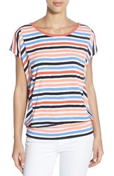 Women's Chaus Banded Hem Wavy Stripe Top
