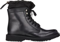 Prada Men's Nylon Cuff Boots Black