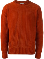 Wooyoungmi Crew Neck Jumper Yellow And Orange