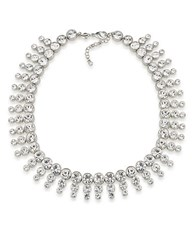 Carolee Broadway Lights Collar Necklace Silver