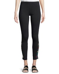Johnny Was Voltage Embroidered Leggings Plus Size Black