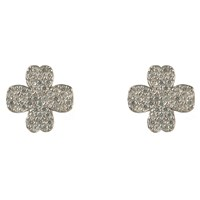 Latelita London Lucky Four Leaf Clover Earring Silver