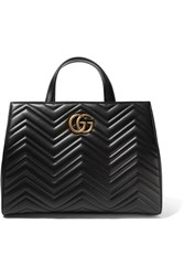 Gucci Gg Marmont Medium Quilted Leather Tote Black